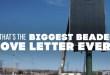 Voici la plus grande lettre d'amour que vous verrez