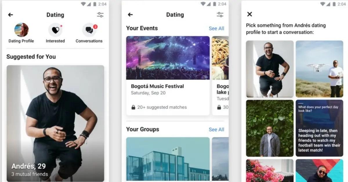 Facebook concurrence Tinder avec son nouveau service de rencontres