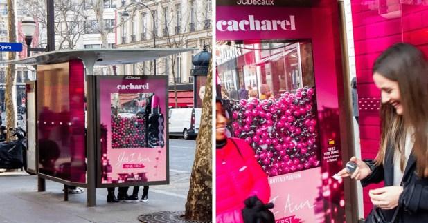 Cacharel Fait Voir La Vie En Rose Aux Parisiens Pour La Sortie De