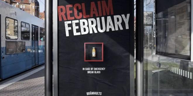 Brämhults fait exploser des vitres pour sa campagne «Reclaim February»