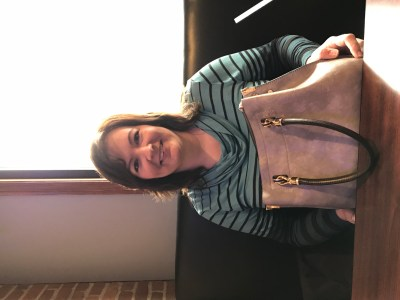 Wife with her new purse