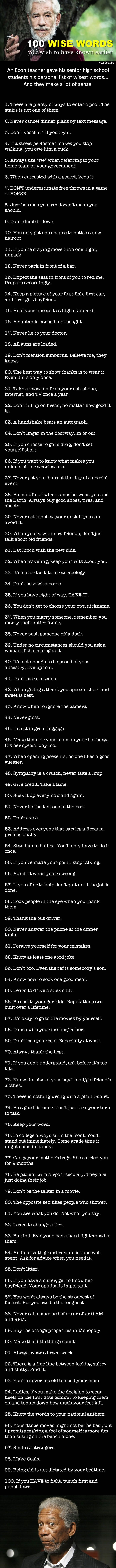 100 Points of Wisdom