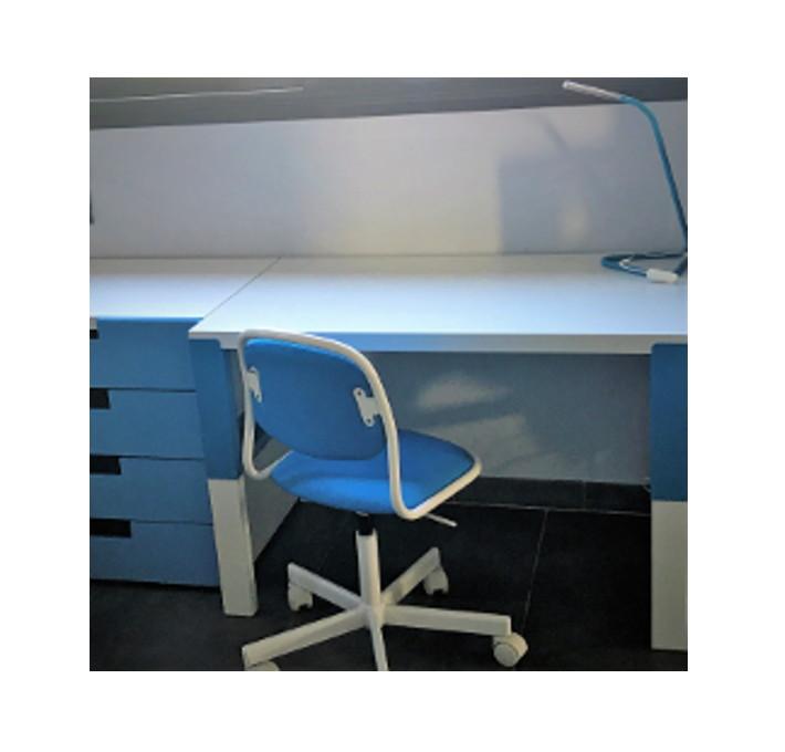 Bureau enfant Pahl bleu et blanc