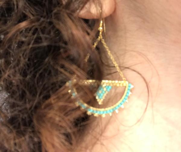 Boucles d'oreilles demi-cercle