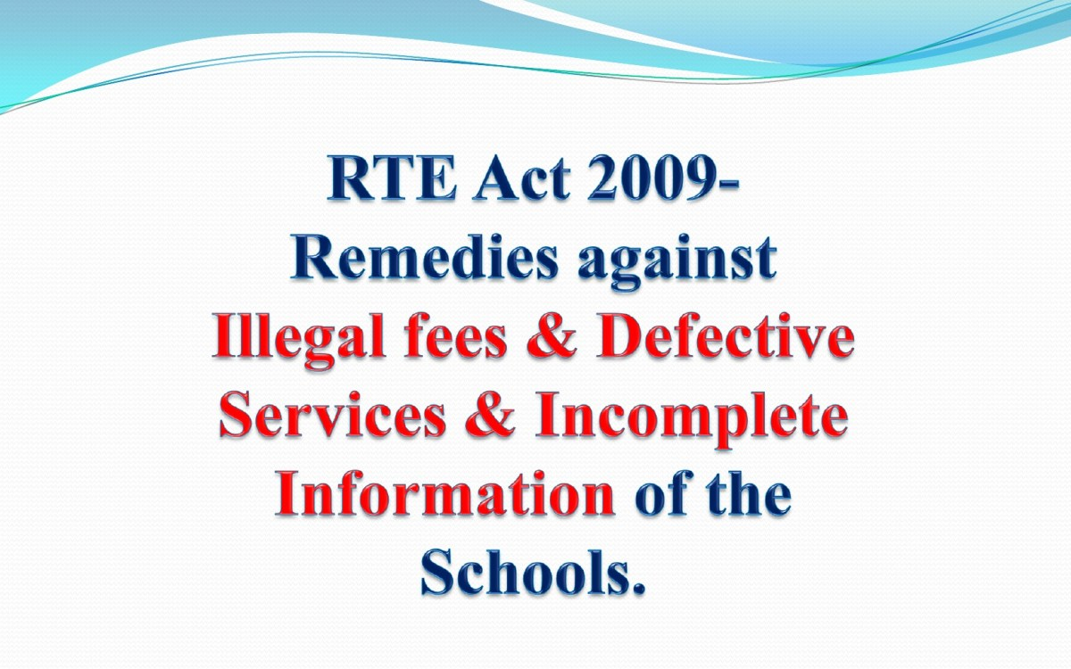 Getting Self Declaration & Audit Statement of School Under RTE Act 2009.