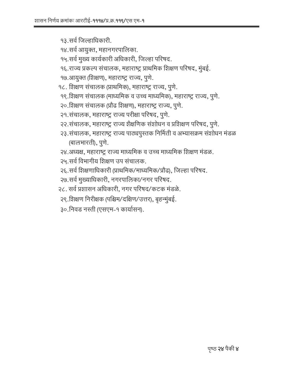 RTE Act 2009 Competent Authorities Maharashtra-04