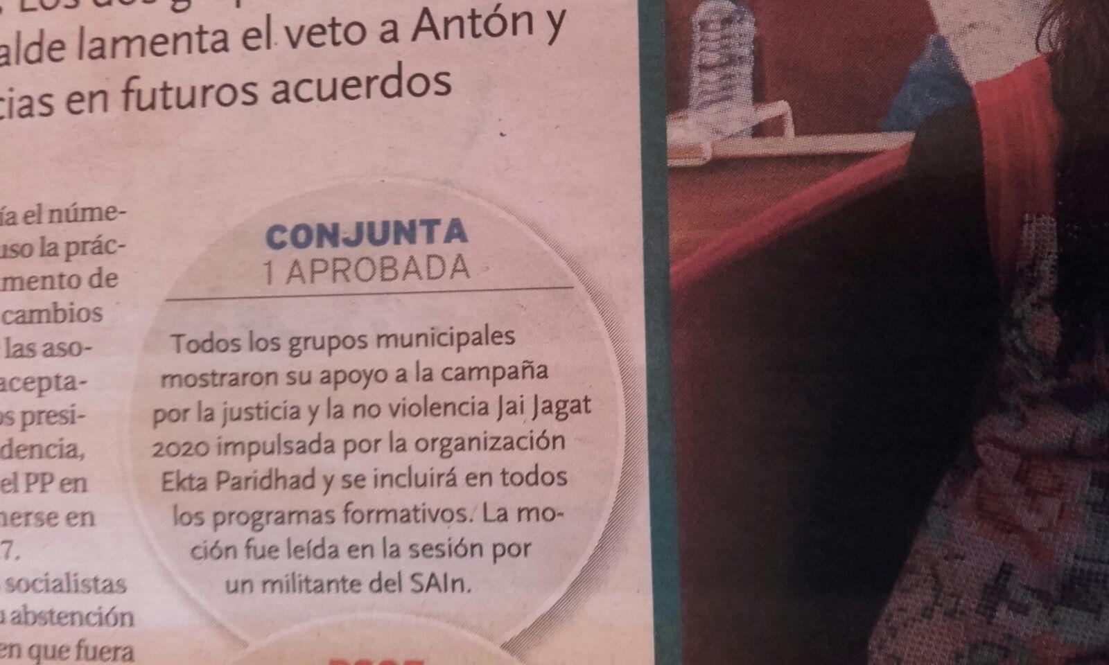 Burgos se compromete con Jai Jagat