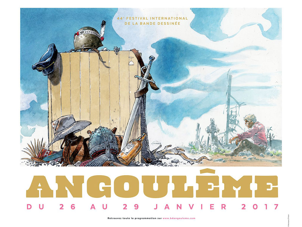 Affiche festival BD Angoulême 2017 - Hermann