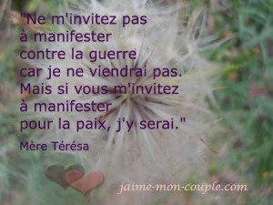 Citation de Mère Térésa