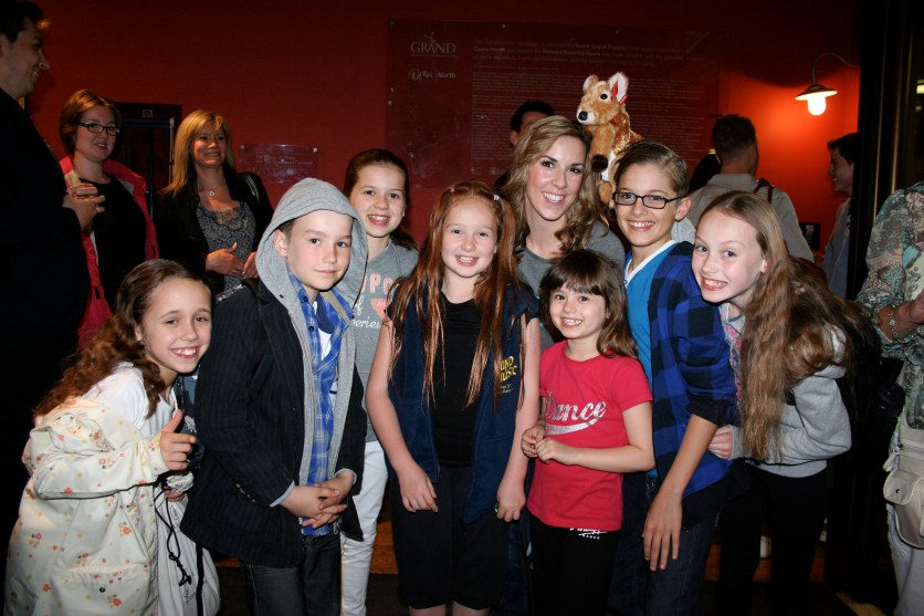 After show party with Verity Rushworth and the Von Trapp kids!!