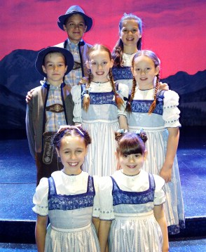 The Von Trapp kids in Andrew Lloyd Webber's UK Tour of The Sound of Music