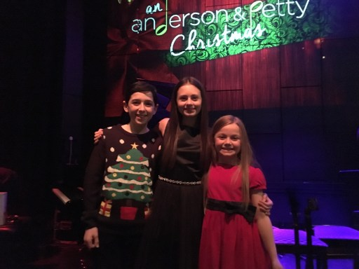 Jaime, Ilan and Harriet Turnbull at St James Theatre singing Anderson & Petty's 'Santa Your Still My Friend', Christmas 2016