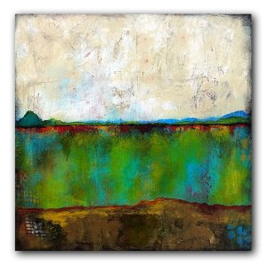 A Good Walk abstract landscape painting