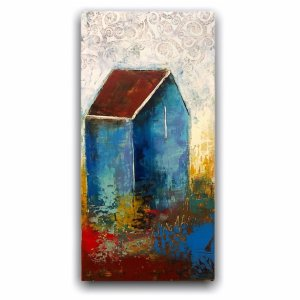 Cow House modern original oil painting