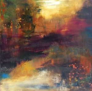 Getting Along With Others - Abstract Landscape Oil Painting