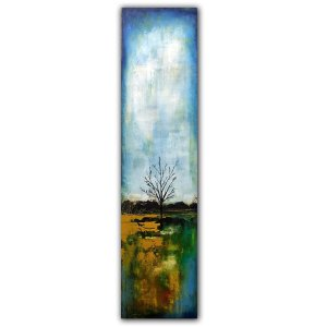 Reflections No. 7 abstract tree oil painting