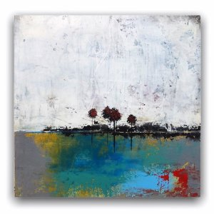 Seclusion abstract landscape modern oil painting