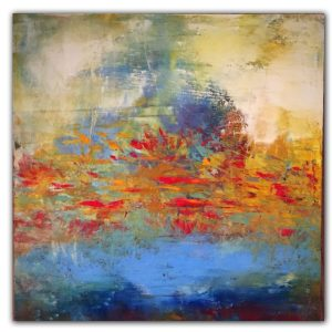 Spring Breeze - abstract oil painting