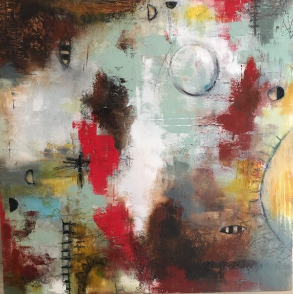 Sunny Bees - Abstract Art Oil Painting