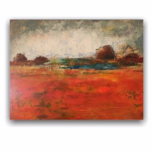 That Time Autumn Really Happened - Landscape Art Autumn Oil Painting