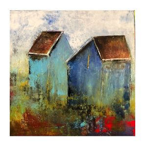 The Old Barns Modern Art Oil Painting