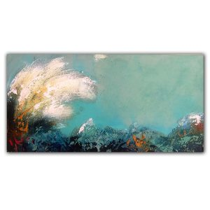Ocean wave abstract oil painting by Jaime Byrd