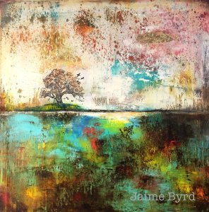 Where The Wild Things Grow - Abstract Landscape Oil Painting