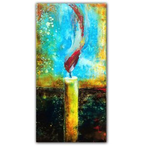 A Light of Hope - Abstract oil painting