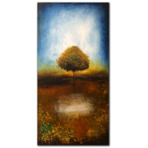 The Thinking Tree - oil painting with tree