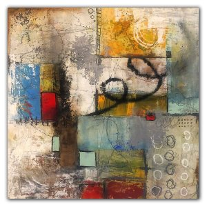 Acrylic abstract painting by Jaime Byrd