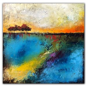 Jaime Byrd Painting - In The Light - Abstract landscape oil and cold wax painting