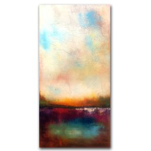 Reflections No. 16 - Oil and Cold wax contemporary painting by Jaime Byrd