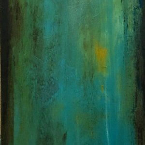 Growing Deeper - Oil and Cold Wax Painting by Jaime Byrd