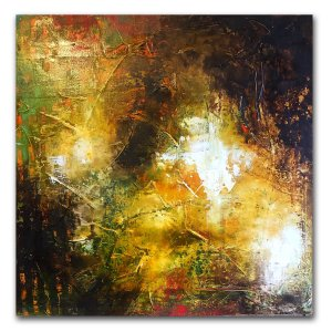 New Beginnings - Contemporary abstract oil and cold wax painting by Jaime Byrd