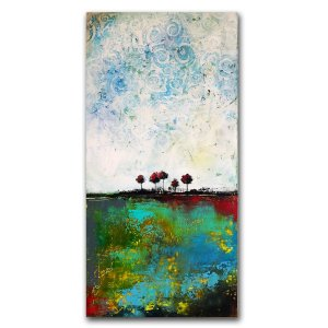 Big Sky - oil and cold wax abstract painting by Jaime Byrd