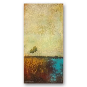 Eastern Winds - abstract oil and cold wax contemporary art by Jaime Byrd