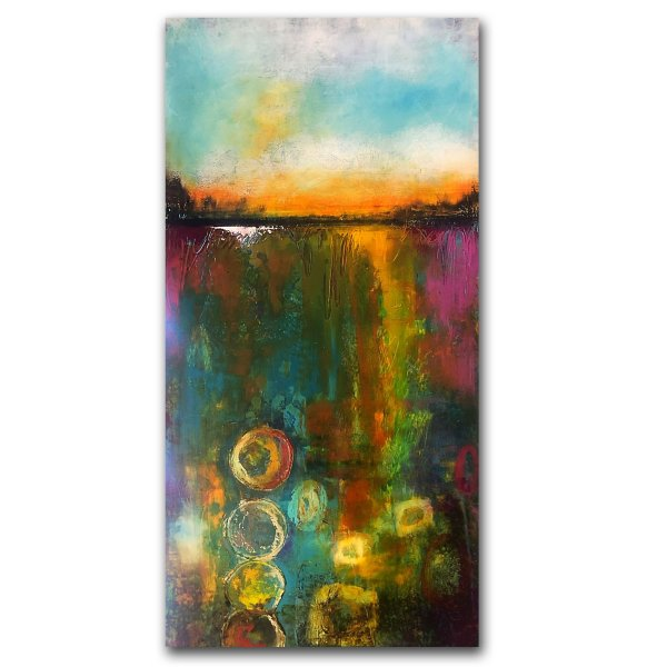 Stories Below Us No 2 - oil and cold wax abstract painting by contemporary artist Jaime Byrd