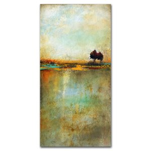 Dreamscape No. 2 - abstract landscape oil and cold wax painting by contemporary artist Jaime Byrd