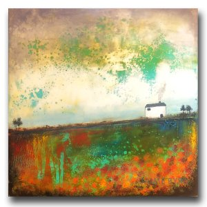 Southern Highland - oil and cold wax painting by contemporary artist Jaime Byrd