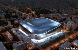 Maqueta del nuevo estadio Santiago Bernabéu diseñado por GMP Architekten