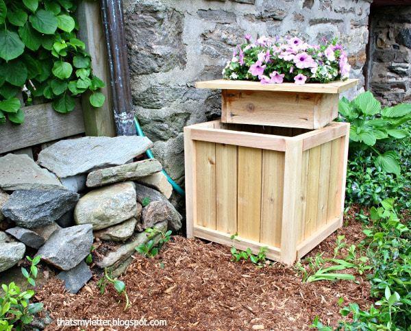 DIY Hose Hiding Planter by Jaime Costiglio