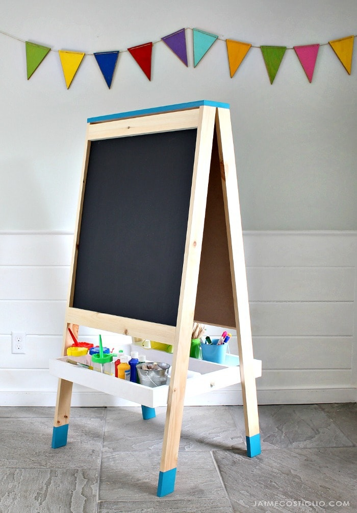 DIY Easel for Kids - Jaime Costiglio on Easel Decorating Ideas  id=74050