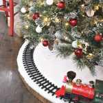 Diy Christmas Tree Skirt For Train Jaime Costiglio