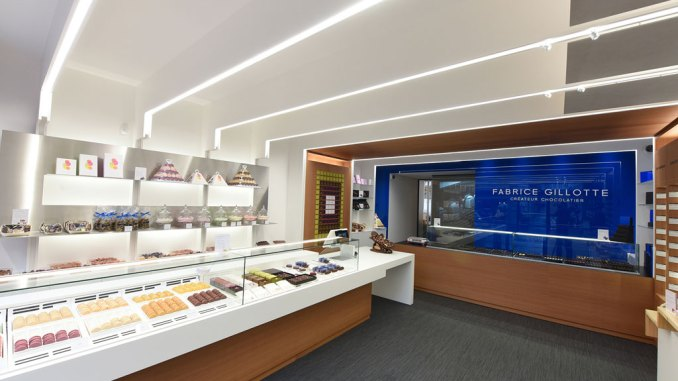 La boutique du chocolatier Fabrice Gillotte à Besançon