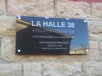 Inauguration de la Halle 38, ateliers d'artistes, à Dijon