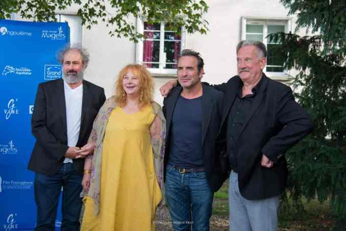 Gustave Kervern, Yolande Moreau, Jean Dujardin et Benoît Delépine au Film Francophone d'Angoulême 2018 © Christophe Magick! Ribot