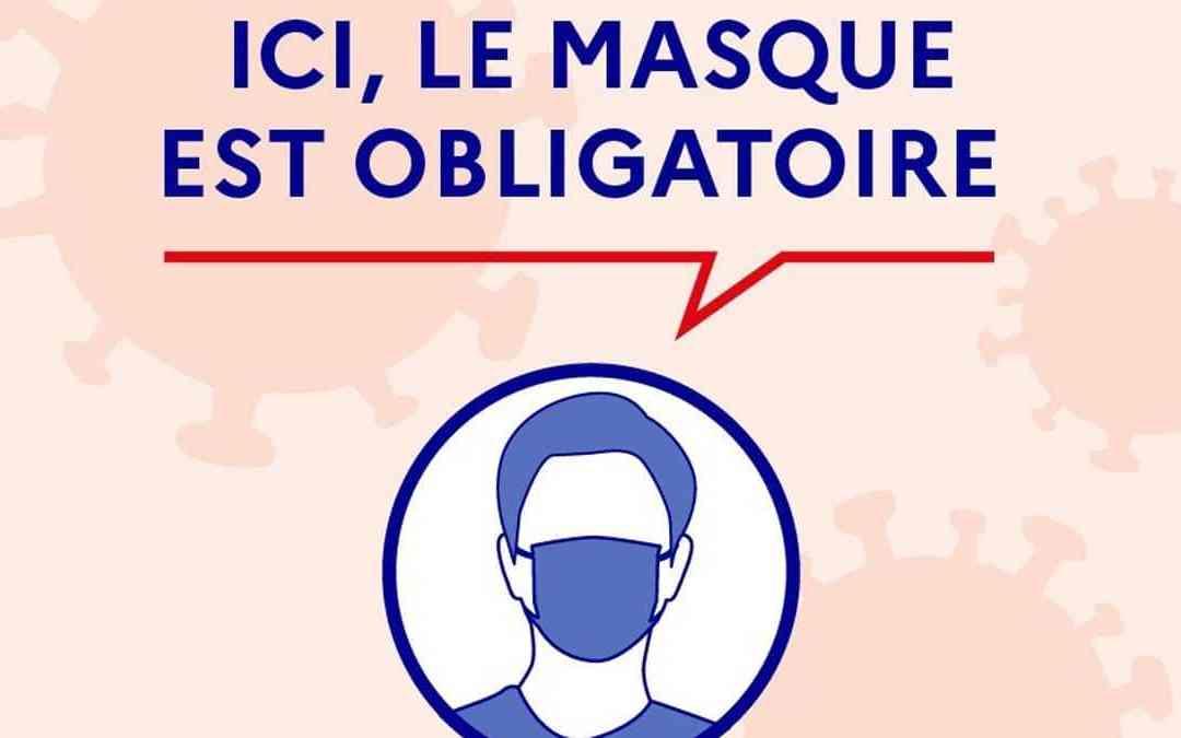 Covid-19 : Port du masque obligatoire dans 8 communes de Côte-d'Or