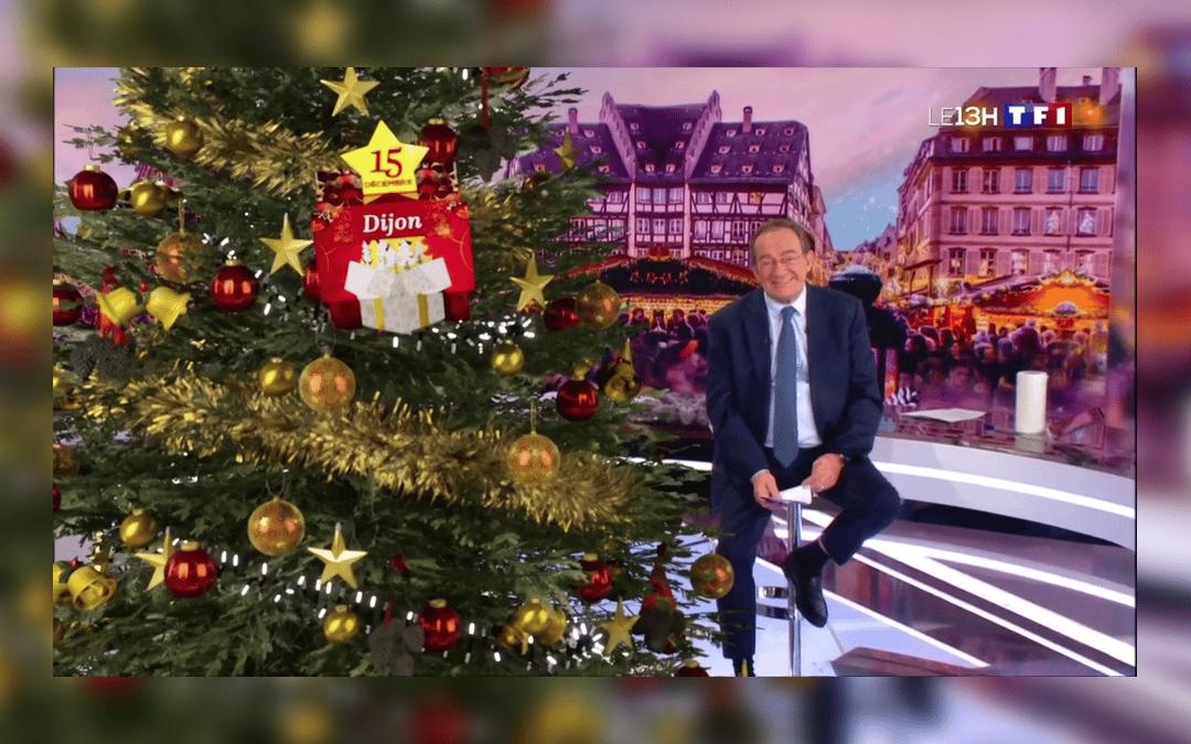 Les dijonnais nous présentent leurs sapins de Noël et les illuminations de Dijon au 13h de TF1