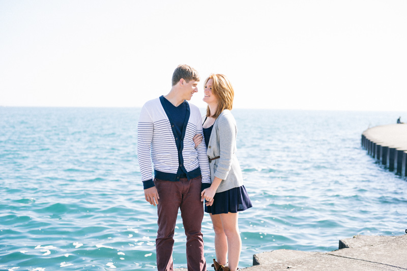 chicago engagement session by the water