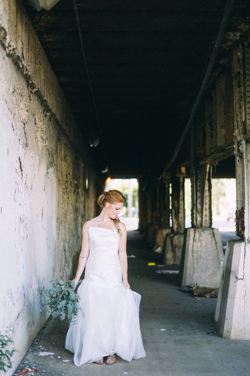 Bridal pictures on Chicago streets